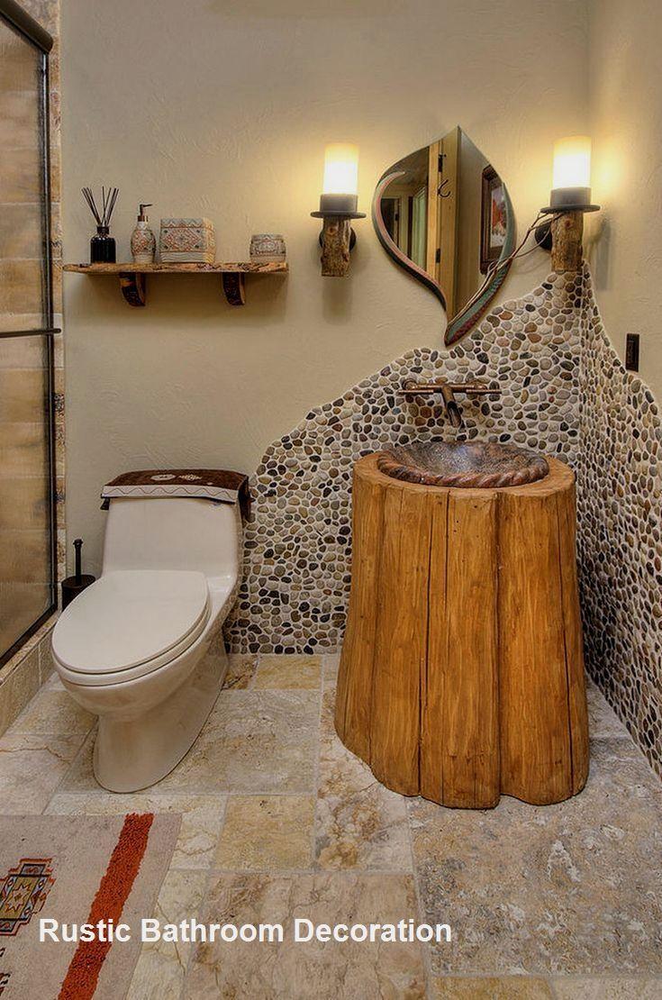 Stunning Rustic Bathroom Plans You Might copy for Your Bathroom Decor #cabinlif… – Rustic Bathrooms Ideas