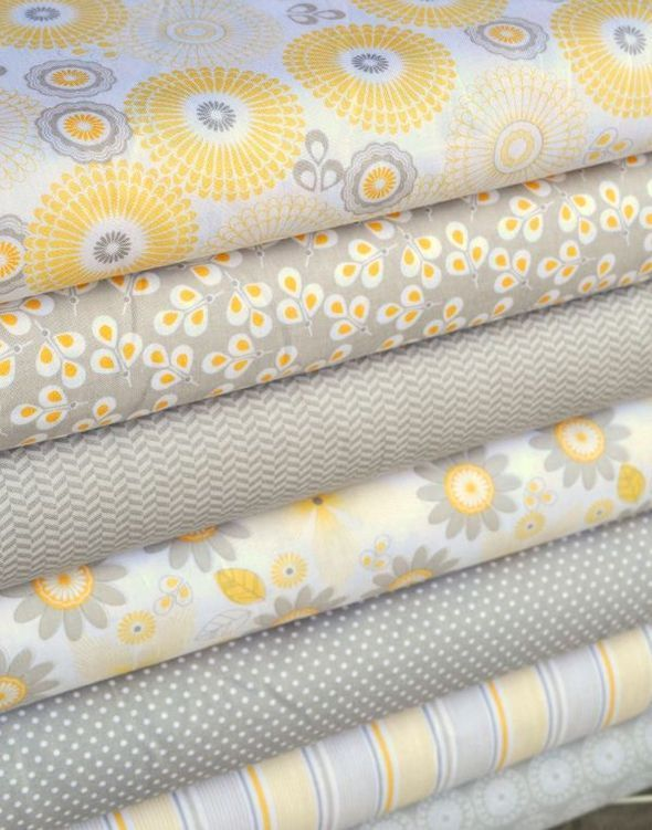 Riley Blake's new Willow Collection in Yellow and Gray