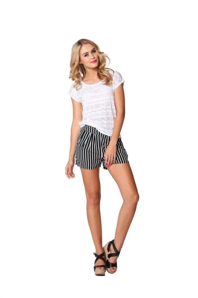 Deckhand stripe short Bubblesandbuttons.com.au