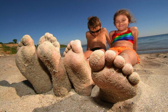 Sandy feet beach photo