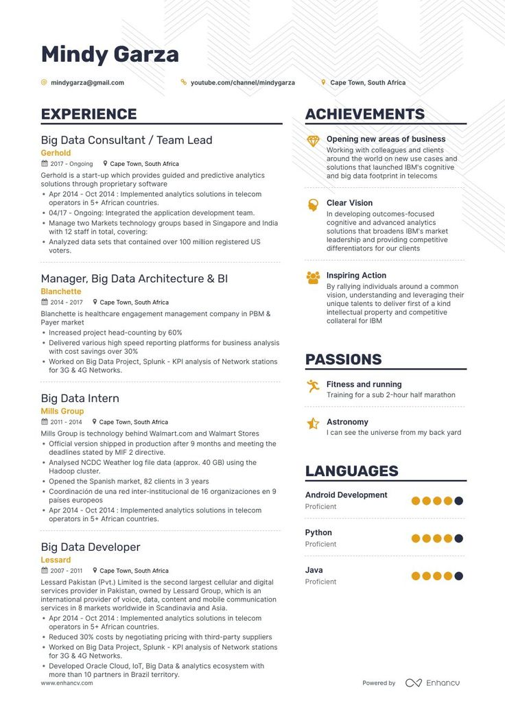 Big data resume example and guide for 2019 resume