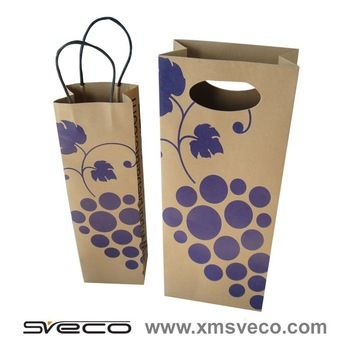 Fashion and Cheap Wine Bag With Printing