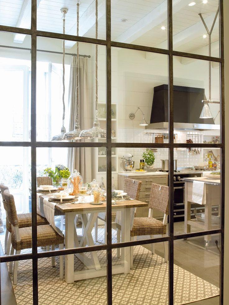Jurnal de design interior - Amenajări interioare : Idee de amenajare pentru o bucătărie rustic-modernă