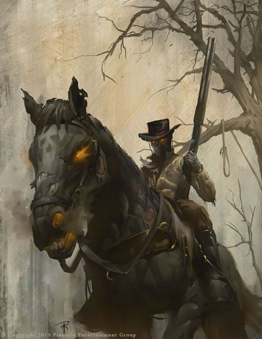 Deathly Drifter by Aaron Riley/ Americana / Deadlands is a genre-mixing alternate history roleplaying game which combines the Western and horror genres.
