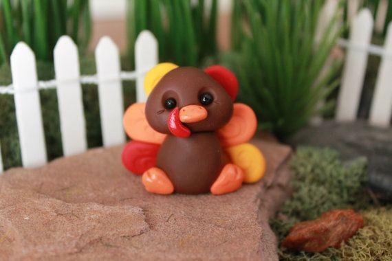 Polymer Clay Turquie - Miniature Turquie - Terrarium accessoire - Fairy Garden - Jardin de la Miniature