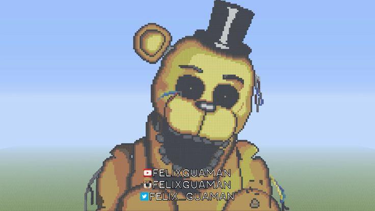 Golden Freddy FNAF Minecraft Pixel Art by FelixGuaman on DeviantArt