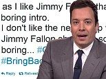 Jimmy Fallon's star-studded Tonight Show debut gets a giant thumbs down from fans on Twitter..Haters Bounce!!!..Twitter is full of negativity anyways!!!.. Mostly Trolls!!.. Love Jimmy!!! <3