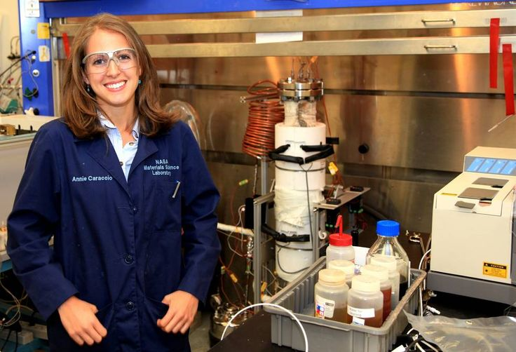 Annie Caraccio, chemical engineer in the Materials Science Division of NASA's Engineering and Technology Directorate