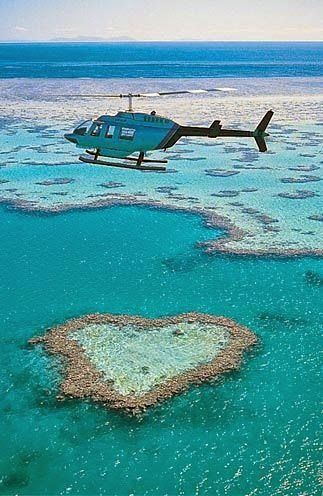2nd Sept 1999-Helicopter ride over Great Barrier Reef, Australia
