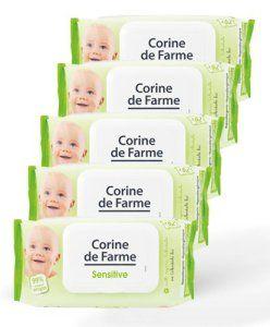 Lot de 5 paquets de lingettes nettoyantes bébé x 62: Tweet Cette offre spéciale contient : – 5 paquets de Lingettes Sensitive au Calendula…