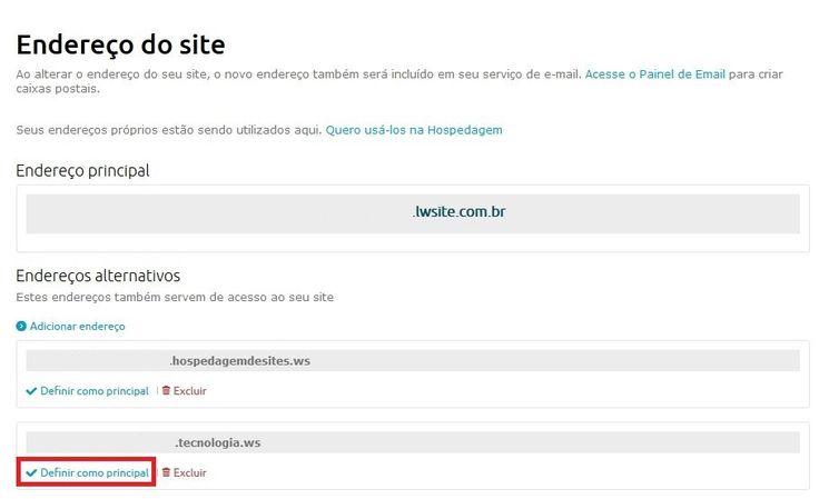 Criador de Sites Incluso - Como vincular domínio - Wiki Locaweb