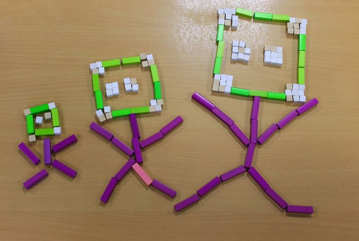 pinkmathematics: Cuisenaire rod patterns in Year 4