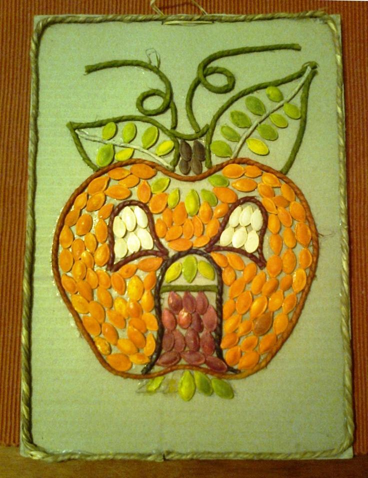 OviVarázs: Tökmagból őszi kép: tökházikók