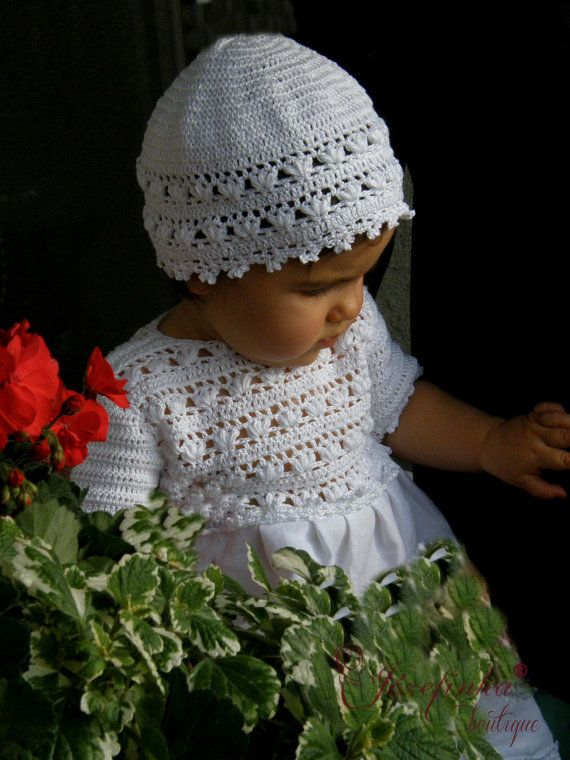 Baptism Dress,Crochet Baby Dress,Baby Girl Clothes,Christening Gown,Baptism Dress,flower girl dress
