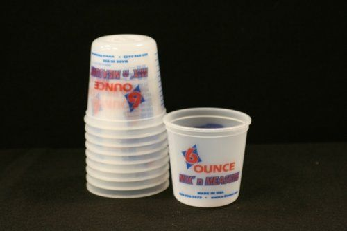 """""""Fiberlay, Inc. 6526p10 6 Oz Plastic Cups 10 Pack"""" by Encore. $7.81. Graduated 6 oz plastic mixing containers 10/ pack"""