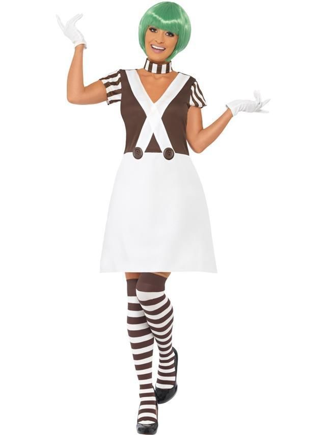 Adult Candy Creator Female Outfit Fancy Dress Costume Oompa Loompa Umpa Lumpa #Smiffys #CompleteOutfit