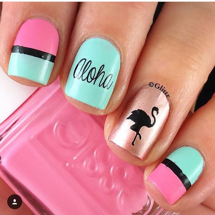 Create the perfect summer manicure with our hot pink Flamingo Nail Decals Can also be used as a Flamingo Nail Stencil ~ 30 Flamingo Nail Decals in all. Video Created and Provided by SprinkleNails
