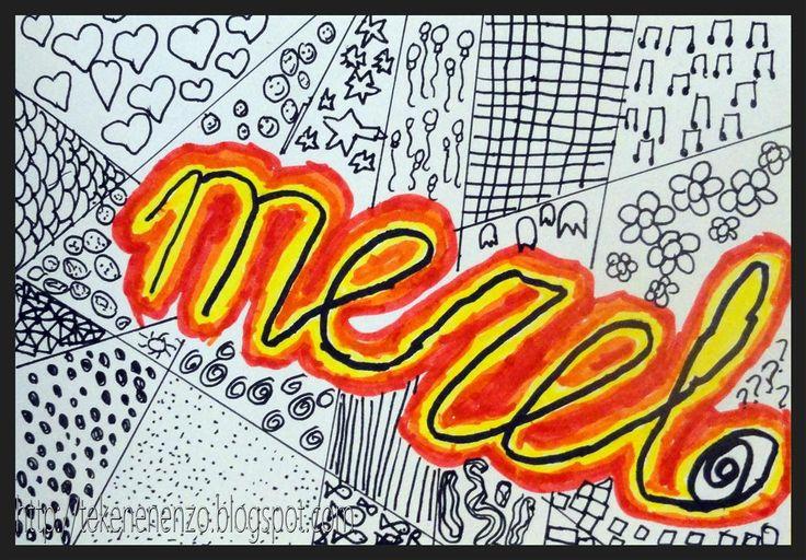 Door Merel, groep 5 Benodigdheden:  wit tekenpapier op A5 formaat  zwarte watervaste stift  viltstiften  zwarte fineliner  Elk jaar maken we...
