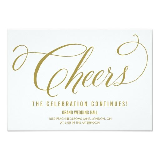 Gold Mr Mrs Elegant Script Wedding Reception Card