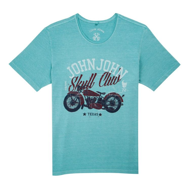 T-SHIRT SKULL CLUB JOHN JOHN DENIM | SHOP ONLINE | Compre a nova coleção pelo site oficial.