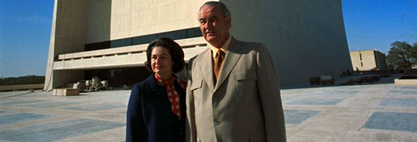 Plan your Visit (Austin, TX) -- President Lyndon B. Johnson and Lady Bird Johnson at the LBJ Library. [LBJ Library photo by Frank Wolfe #D4076-18]