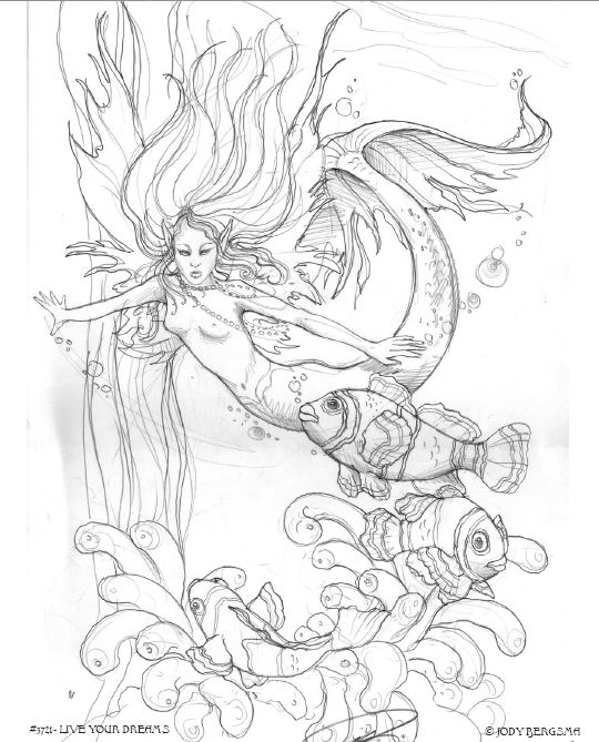 here are some free fairy mermaid coloring pages by jody bergsma right click and hit save as to save