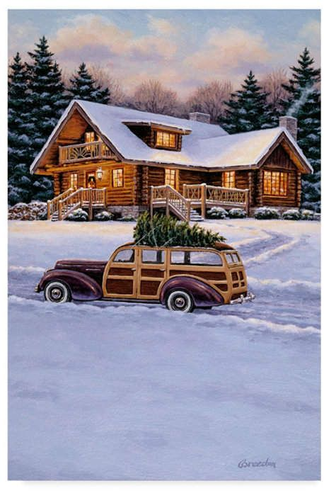 William Breedon 'Log Cabin' Canvas Art – 12 x 19