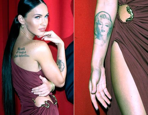 10 Hottest Celebrity Tattoos