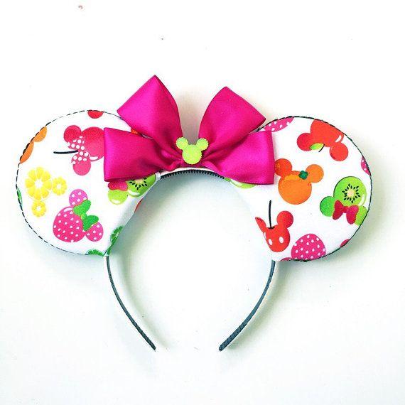 Mickey Ears, Minnie Mouse Ears, Fruit Mickey Ears Headband, Fun Minnie Ears, Minnie Style Ears, Disney Inspired Mickey Ears