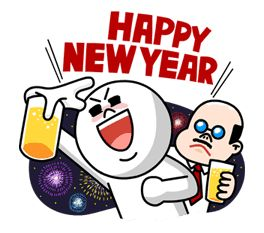 LINE Happy New Year! - http://www.line-stickers.com/line-happy-new-year/