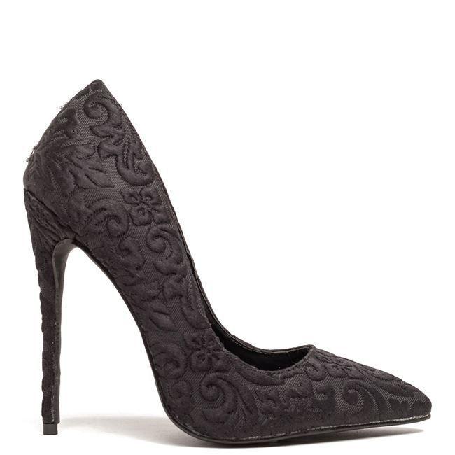 Μαύρη ανάγλυφη Migato γόβα - http://www.new-shoes.gr/designers-brands/goves-migato-winter-2017-987