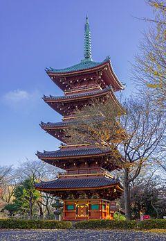 旧寛永寺五重塔(重要文化財)-  Old Kanonaga 5-storied tower (important cultural property)
