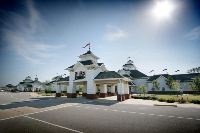 The Oklahoma Aquarium is located at 300 South Aquarium Drive, Jenks, OK 74037.