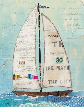 Sailboats Mixed Media, Posters and Prints at Art.com