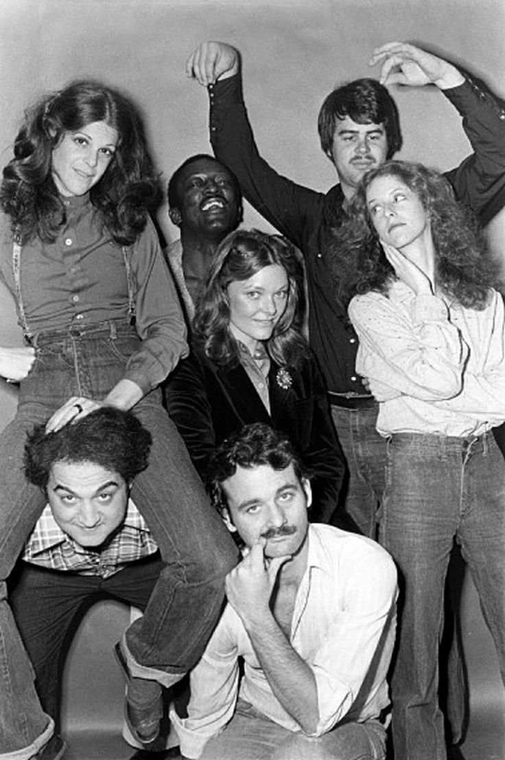 """The original """"Not Ready for Prime Time"""" players... minus Paul Schaefer. Look at how young Bill Murrary looks!"""