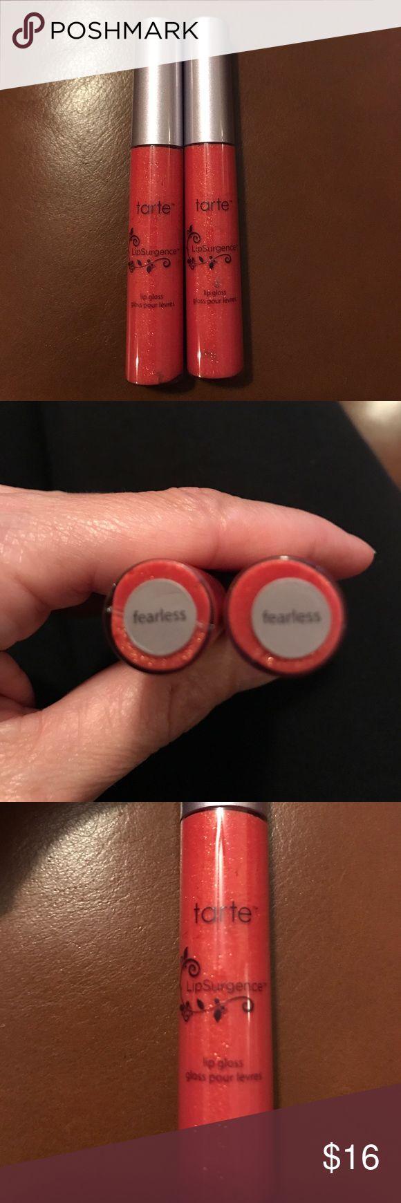 New Tarte LipSurgence Lip Gloss Brand new, never used, LipSurgence in FEARLESS tarte Makeup Lip Balm & Gloss