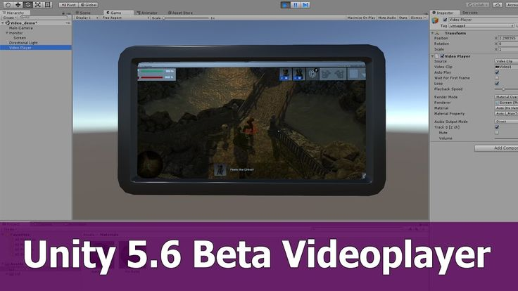 Unity 5.6. Videoplayer Tutorial