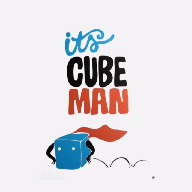 Cube man by Piet Parra