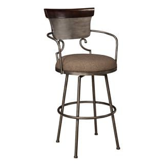 Shop for Signature Design by Ashley Moriann Two-tone 30-inch Metal with Back Barstool. Get free shipping at Overstock.com - Your Online Furniture Outlet Store! Get 5% in rewards with Club O! - 17800756