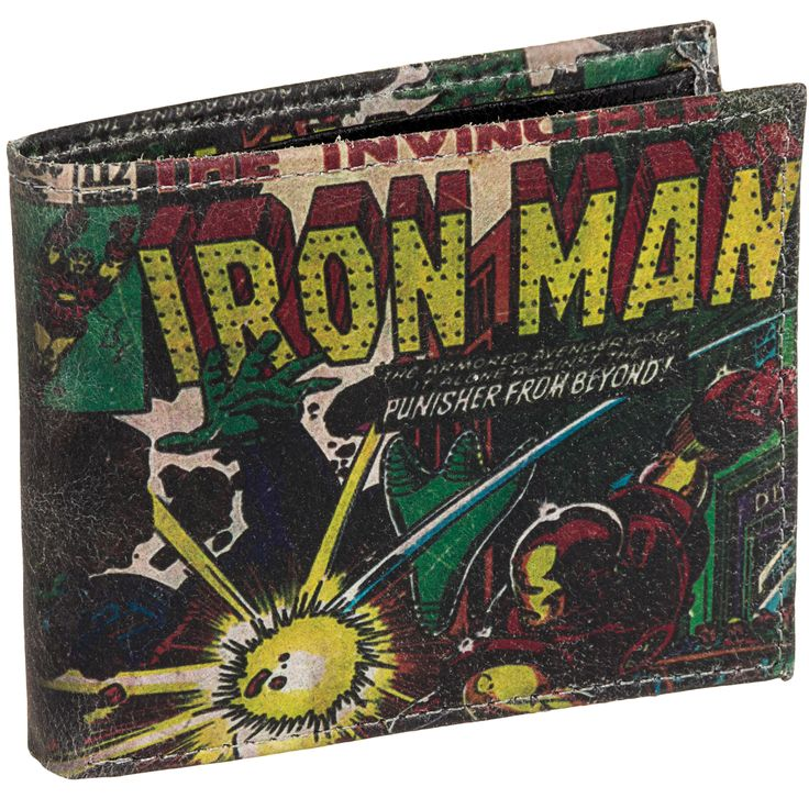 Iron Man Marvel Comics Leather Bifold Wallet