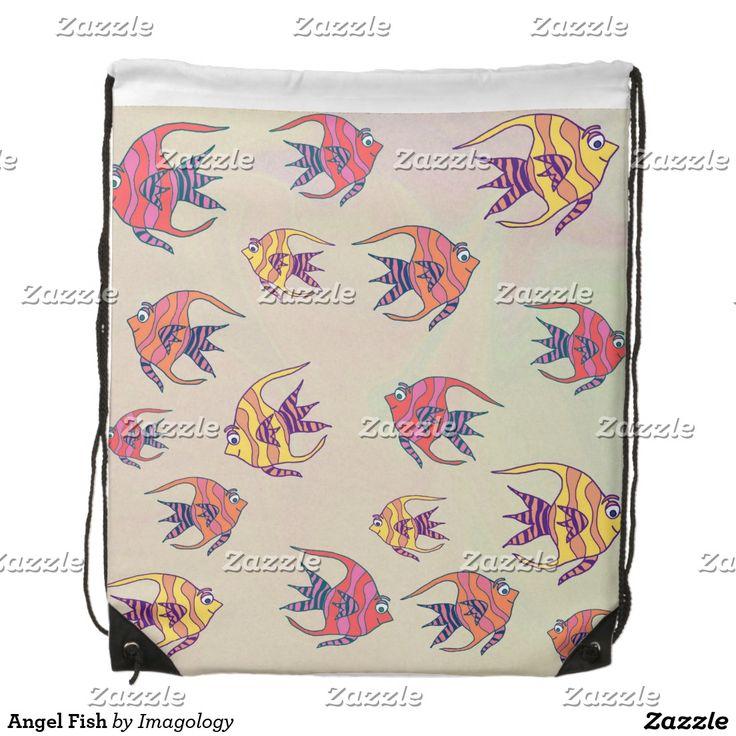 Angel Fish Drawstring Backpack
