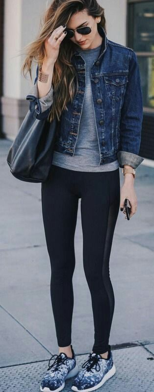 Athleisure -I could definitely recreate this with what I have in my closet, except I need a Jean jacket.