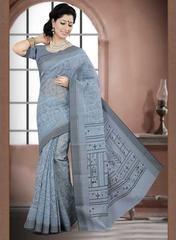 Grey Color Cotton Daily Wear Sarees : Prabha Collection  YF-43110
