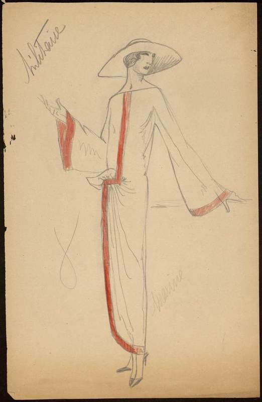 Sketch by Paul Poiret 1922