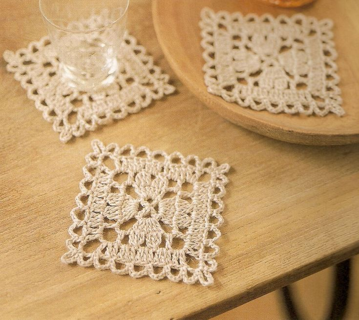 Posavasos tejidos - Crochet