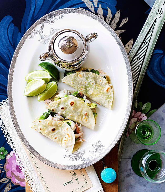 Crab and avocado tortillas - Gourmet Traveller