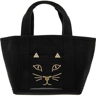 Black Mini Kitty Tote Bag