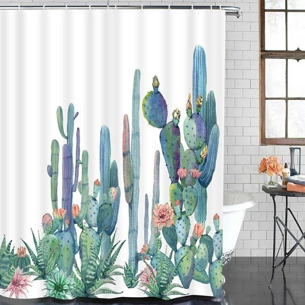 Overstock Com Online Shopping Bedding Furniture Electronics Jewelry Clothing More Cactus Shower Curtain Bathroom Shower Curtains Shower Curtain
