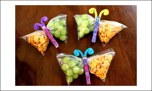 Butterfly Snack Bags - totally doing these for the girl's birthday
