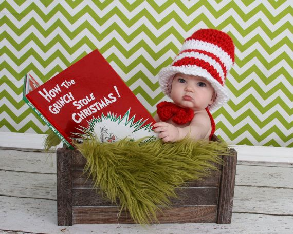 Dr. Suess Cat in the Hat Baby Hat and Bow tie by TheTwistedK, $24.00